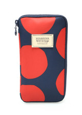 Travel Wallet - POP DOT Navy Red