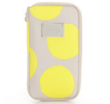 Travel Wallet - POP DOT Beige Yellow