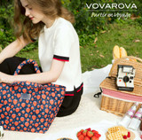 Pleat Tote - Strawberry