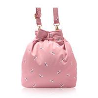 Mini Drawstring Bag - French Pom Pom - Apple Pink