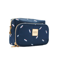 All-in-one Makeup Pouch - French Pom Pom - Navy