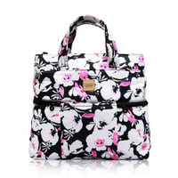 Convertible Satchel / Backpack - Pinky Bloom