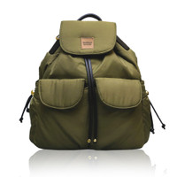 2 Way Drawstring Backpack - Army Green