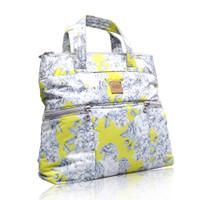 Convertible Satchel / Backpack - Rose Garden - Yellow