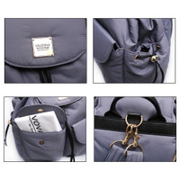 2 Way Drawstring Backpack - Grey