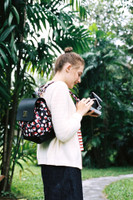 Flipped Backpack - Stripy Dotty