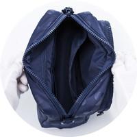 Double Tier Crossbody Bag - Shiny Dotty- Blue