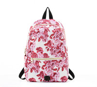 Daily Backpack  - Rose in Bloom- Red