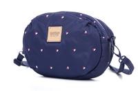 2-zip Puff Sling Bag - Gem of Heart - Navy
