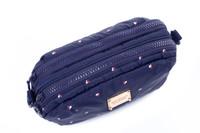 2-zip Puff Sling Bag - Gem of Hearts - Navy