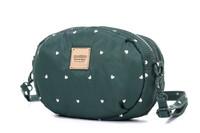 2-zip Puff Sling Bag - Gem of Heart - Green