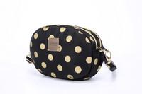2-zip Puff Sling Bag - Golden Dotty