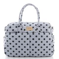 Boston Bag - Dotty - Grey/Black