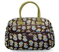 Travel Boston Bag - Little Secret Garden Brown