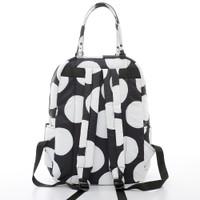 Double Handle Backpack - Pop Dot - Black & White