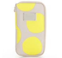 Travel Wallet - POP DOT Beige Yellow
