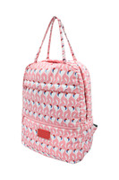 Double Handle Backpack - FLAMINGO