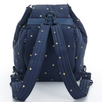 2 Way Drawstring Hobo Bag - Mini Heart - Blue