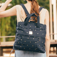 Convertible Satchel / Backpack - Mini Heart - Blue