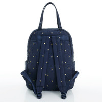 Double Handle Backpack - Mini Heart - Blue