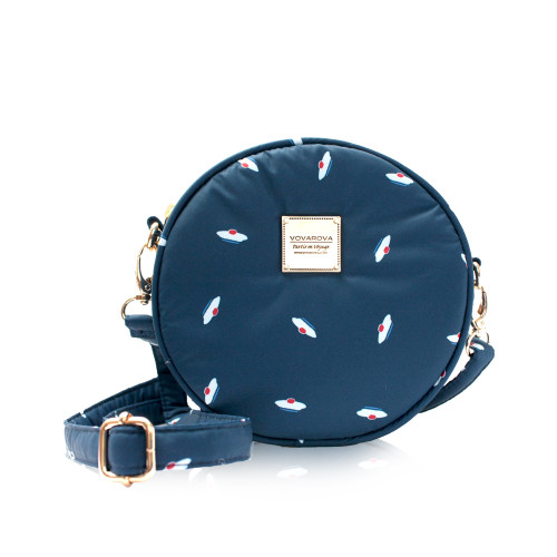 Crêpe Mini Sling - French Pom Pom - Navy