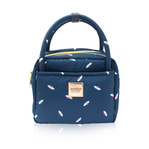 Cubic Cute 2- Way Bag - French Pom Pom - Navy