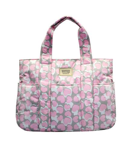 Carryall Tote Bag - Hearts Trinity-Grey