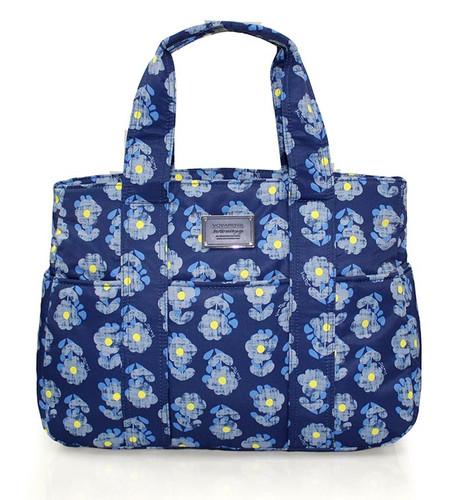 Carryall Tote - Little Secret Garden Blue