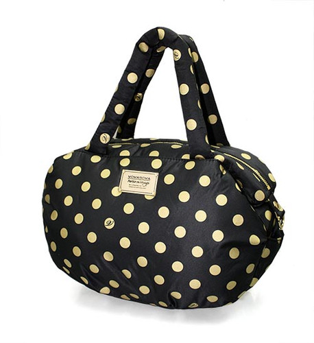 3-way Shoulder Tote - Golden Dotty