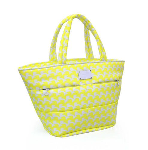 Padded Tote - Checker in Vogue - Yellow