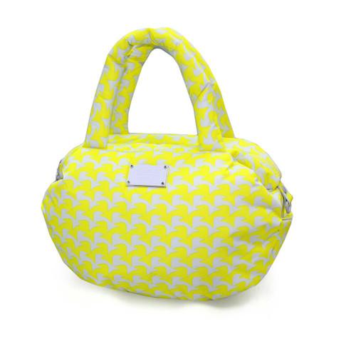 3-way Shoulder Tote - Checker in Vogue - Yellow