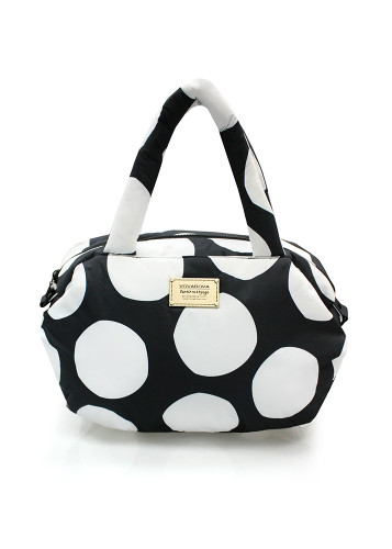 3way Shoulder Tote - Pop Dot - Black & White