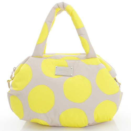 3-way Shoulder Tote - POP DOT Beige Yellow