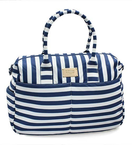 Boston Bag - Stripe Navy White