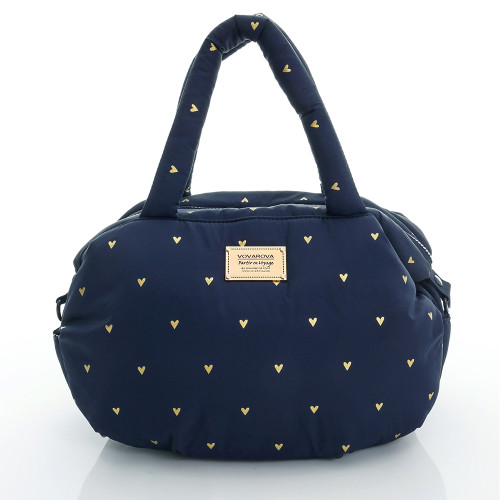 3-Way Shoulder Tote - Mini Heart - Blue