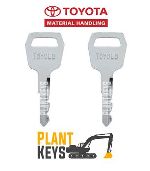 Toyota Forklift (2 Keys) Old Gen