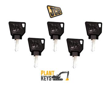 JCB 3CX & Bomag Roller (5 Keys)