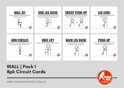 Wall Exercise Circuit Card Pack #1 Summary