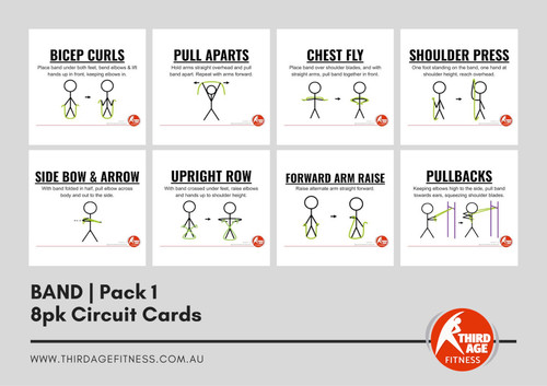 Band Exercise Circuit Card Pack #1 Summary