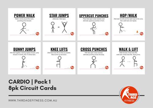 Cardio Exercise Circuit Card Pack #1 Summary