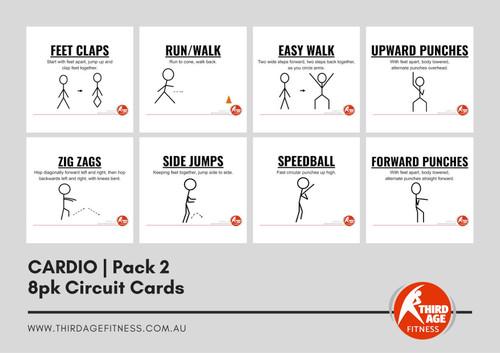 Cardio Exercise Circuit Card Pack #2 Summary