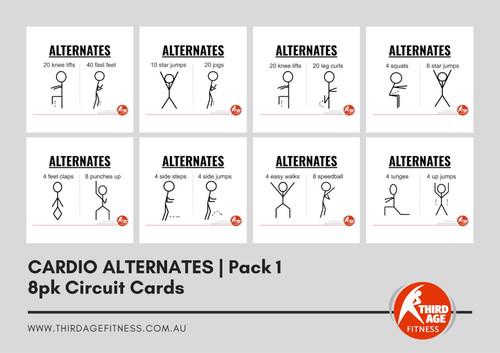 Cardio Alternates Exercise Circuit Card Pack #1 Summary