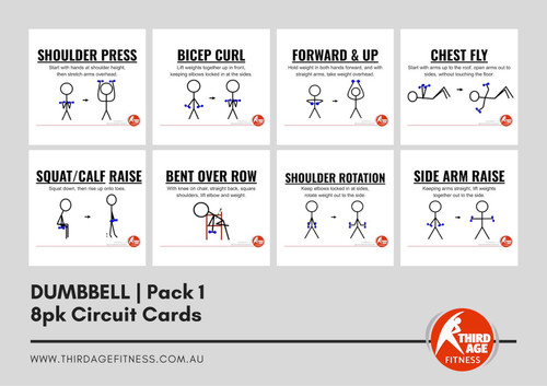Dumbbell Exercise Circuit Card Pack #1 Summary
