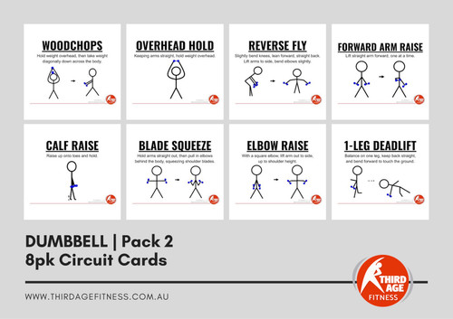 Dumbbell Exercise Circuit Card Pack #2 Summary