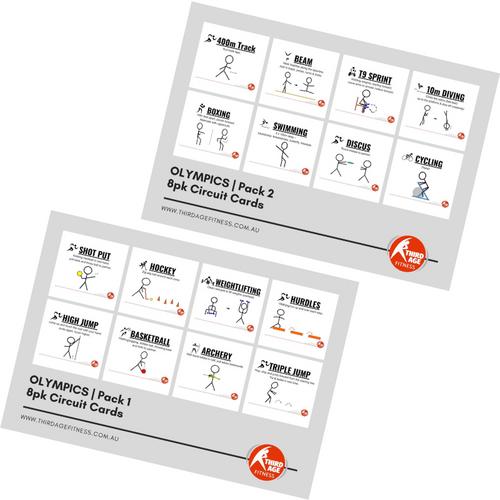 Olympics Exercise Circuit Card Combo Summary