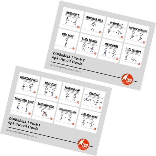 Dumbbell Exercise Circuit Card Combo Summary