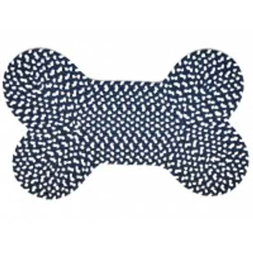 Dog Bone Rug - Midnight Blue