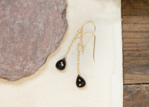Bego Black Onyx Earrings - Gold