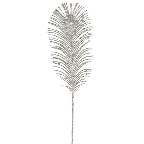 Champagne Peacock Feather Stem