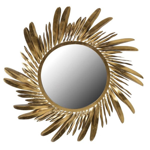 Gold Feather Mirror